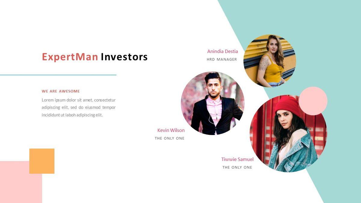 ExpertMan – Creative Pop Art Business PowerPoint Template, Slide 9, 06827, Presentation Templates — PoweredTemplate.com