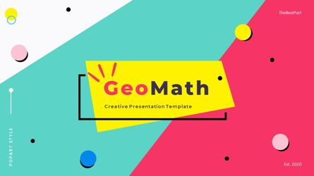 Presentation Templates: GeoMath – Creative Pop Art Business PowerPoint Template #06829
