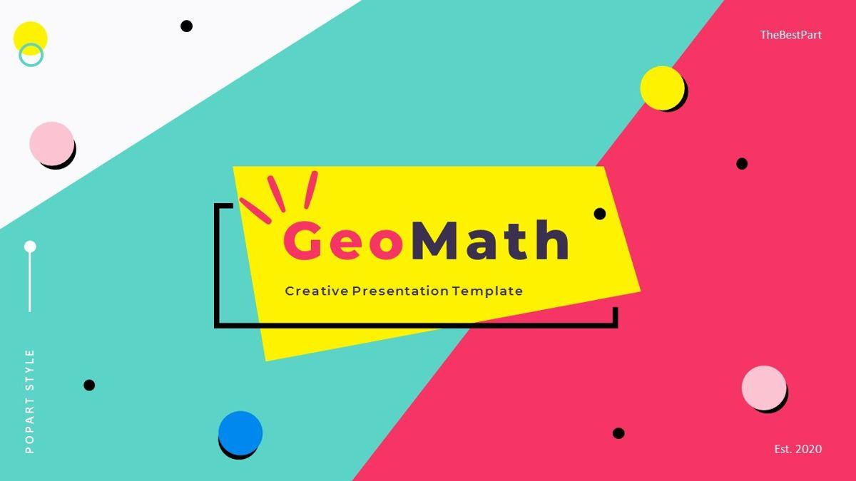 GeoMath – Creative Pop Art Business PowerPoint Template, 06829, Presentation Templates — PoweredTemplate.com