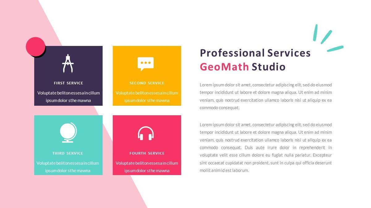 GeoMath – Creative Pop Art Business PowerPoint Template, Slide 16, 06829, Presentation Templates — PoweredTemplate.com