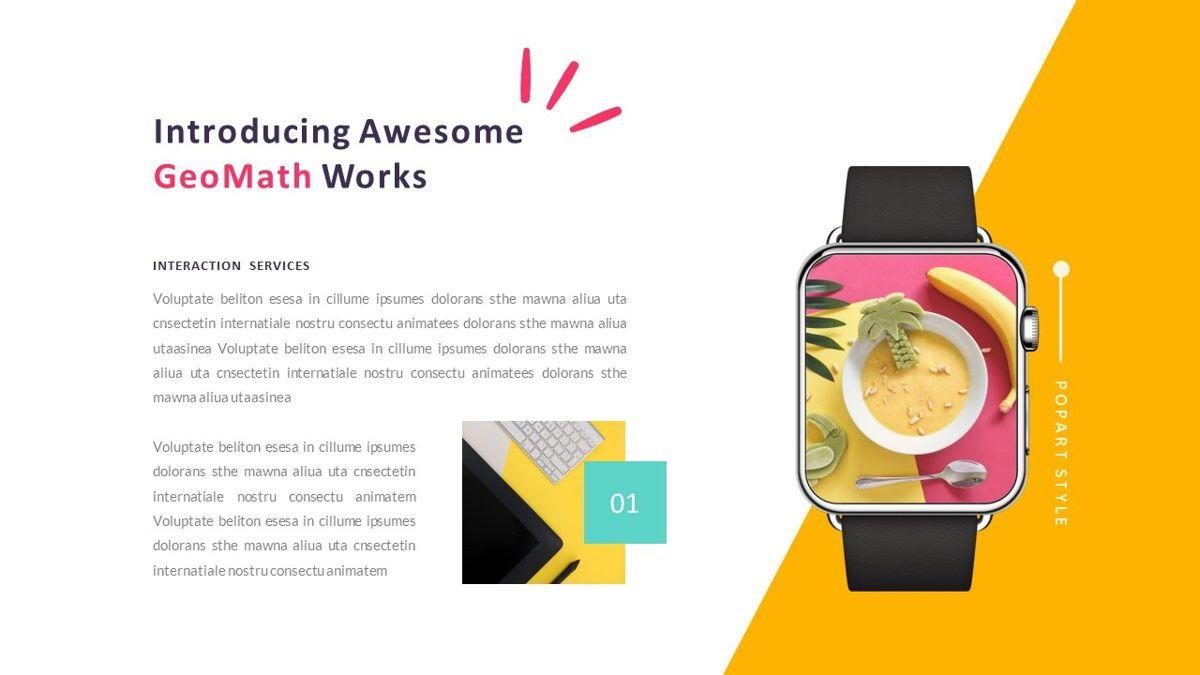 GeoMath – Creative Pop Art Business PowerPoint Template, Slide 26, 06829, Presentation Templates — PoweredTemplate.com