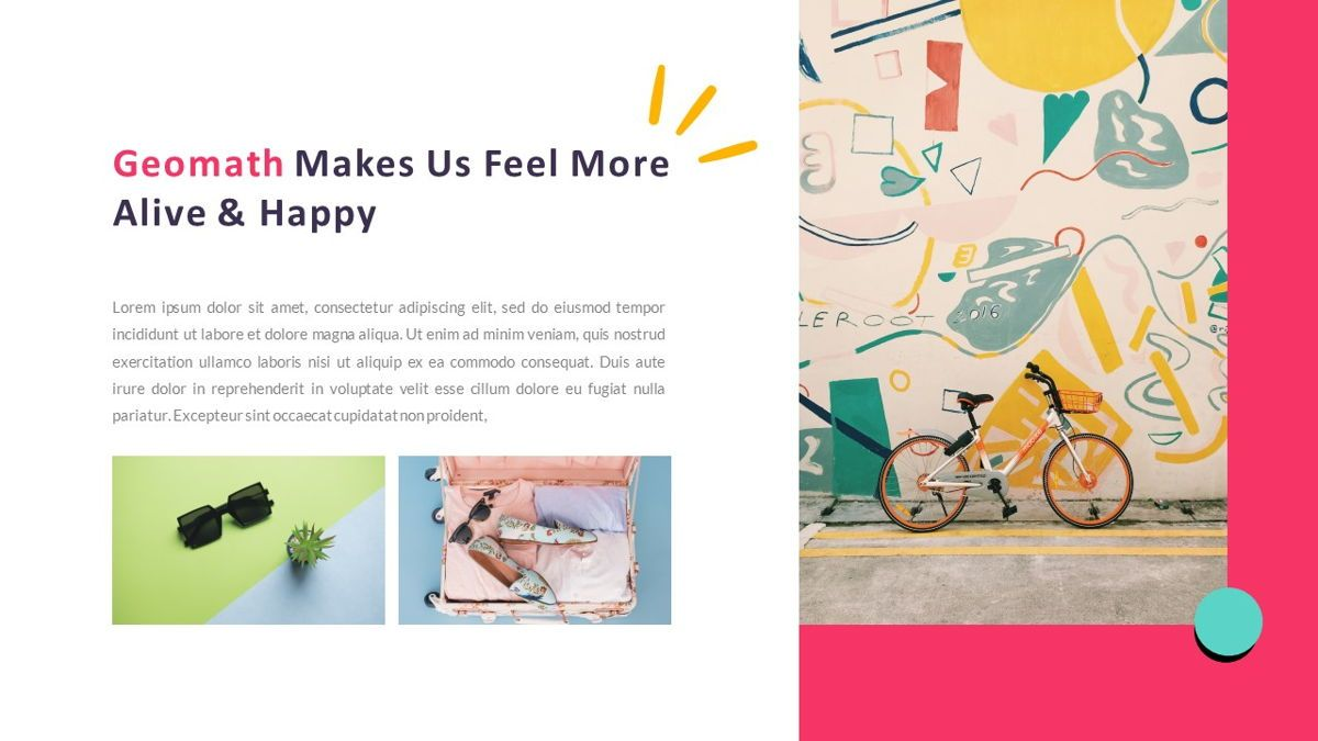 GeoMath – Creative Pop Art Business PowerPoint Template, Slide 6, 06829, Presentation Templates — PoweredTemplate.com
