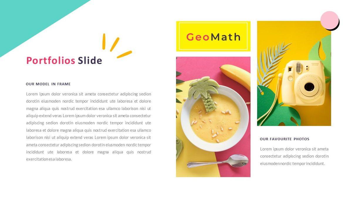 GeoMath – Creative Pop Art Business Google Slides Template, Slide 18, 06830, Presentation Templates — PoweredTemplate.com