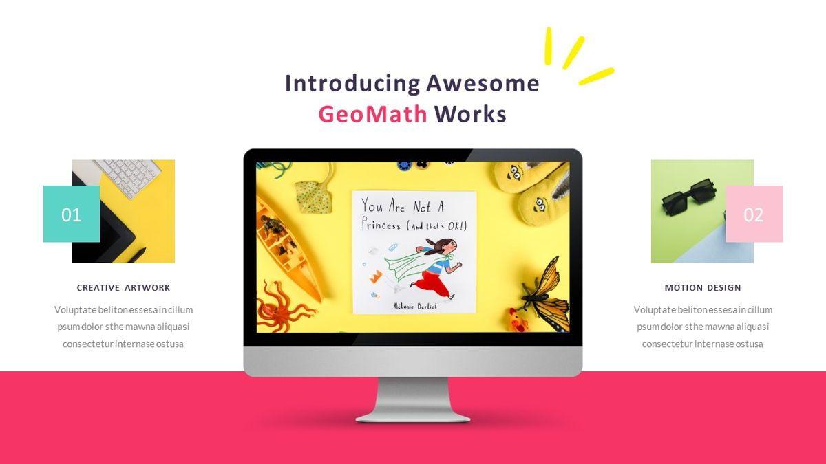 GeoMath – Creative Pop Art Business Google Slides Template, Slide 27, 06830, Presentation Templates — PoweredTemplate.com
