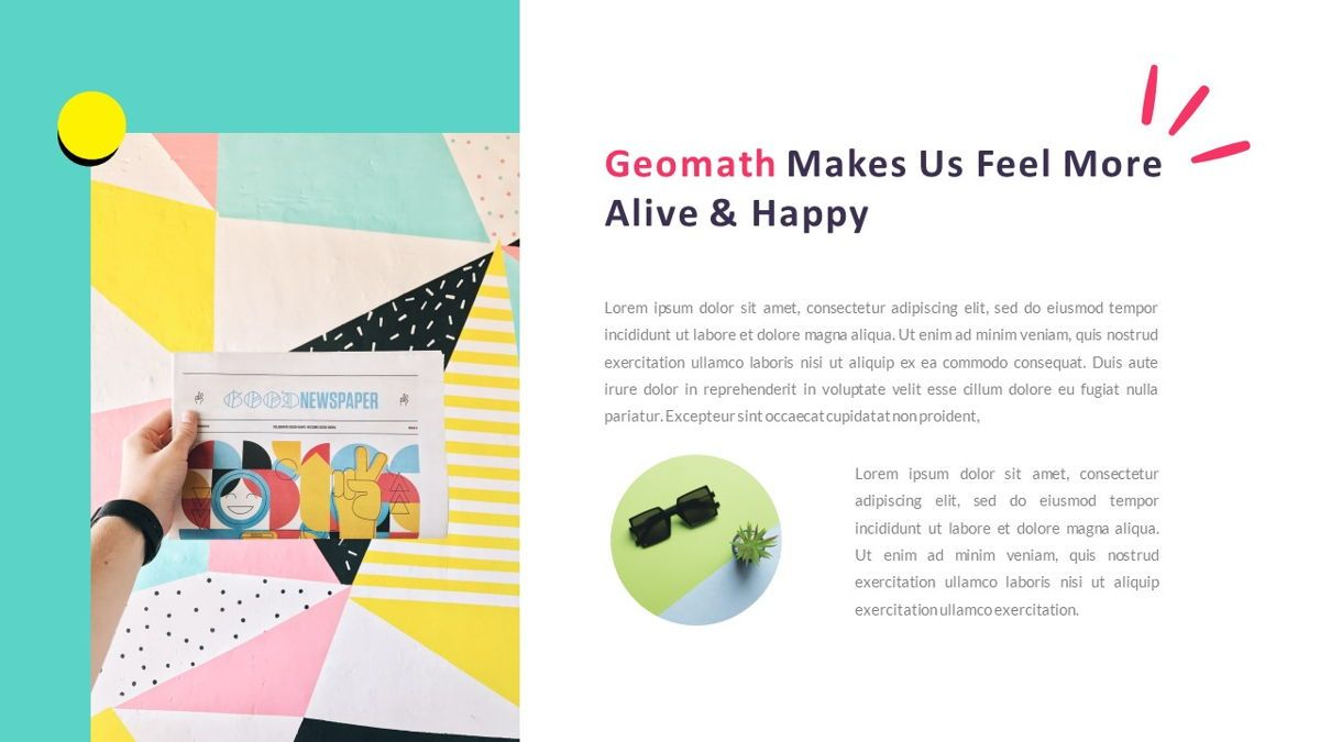 GeoMath – Creative Pop Art Business Google Slides Template, Slide 5, 06830, Presentation Templates — PoweredTemplate.com