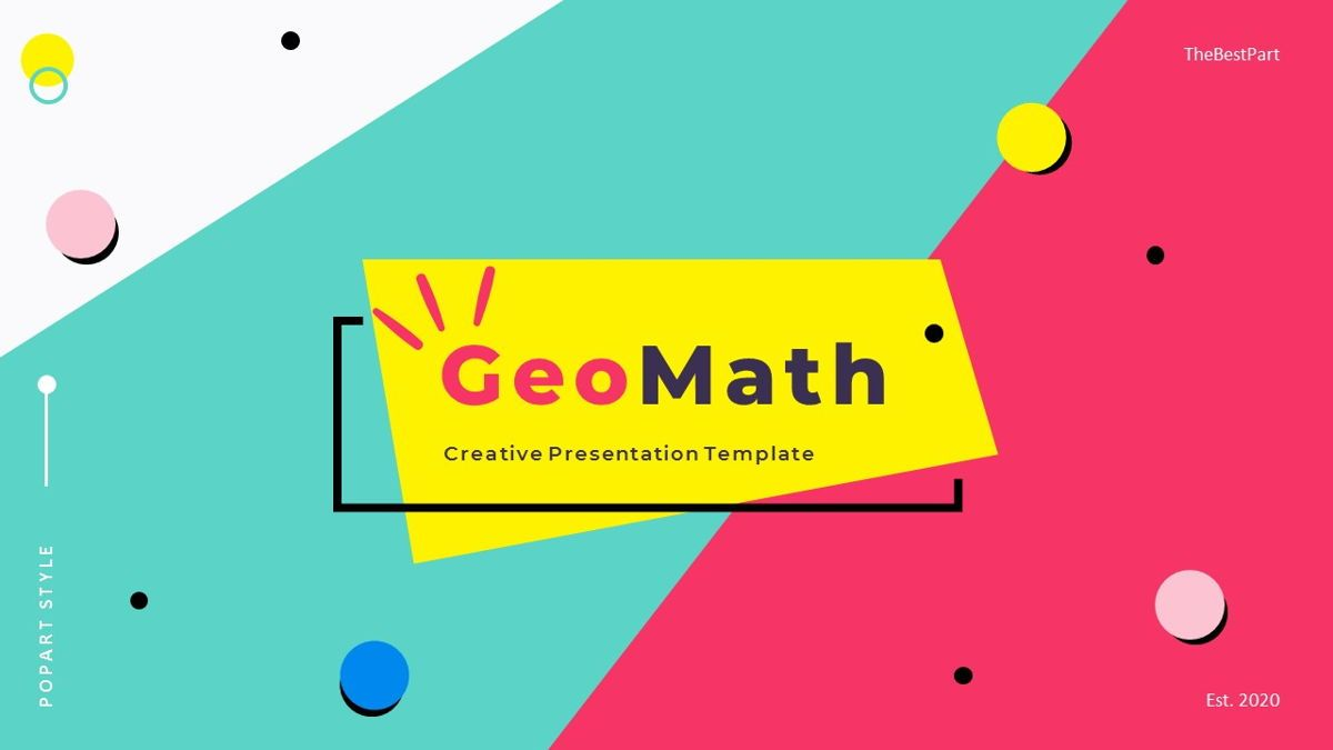 GeoMath – Creative Pop Art Business Keynote Template, 06831, Presentation Templates — PoweredTemplate.com
