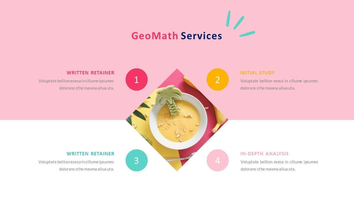 GeoMath – Creative Pop Art Business Keynote Template, Slide 12, 06831, Presentation Templates — PoweredTemplate.com
