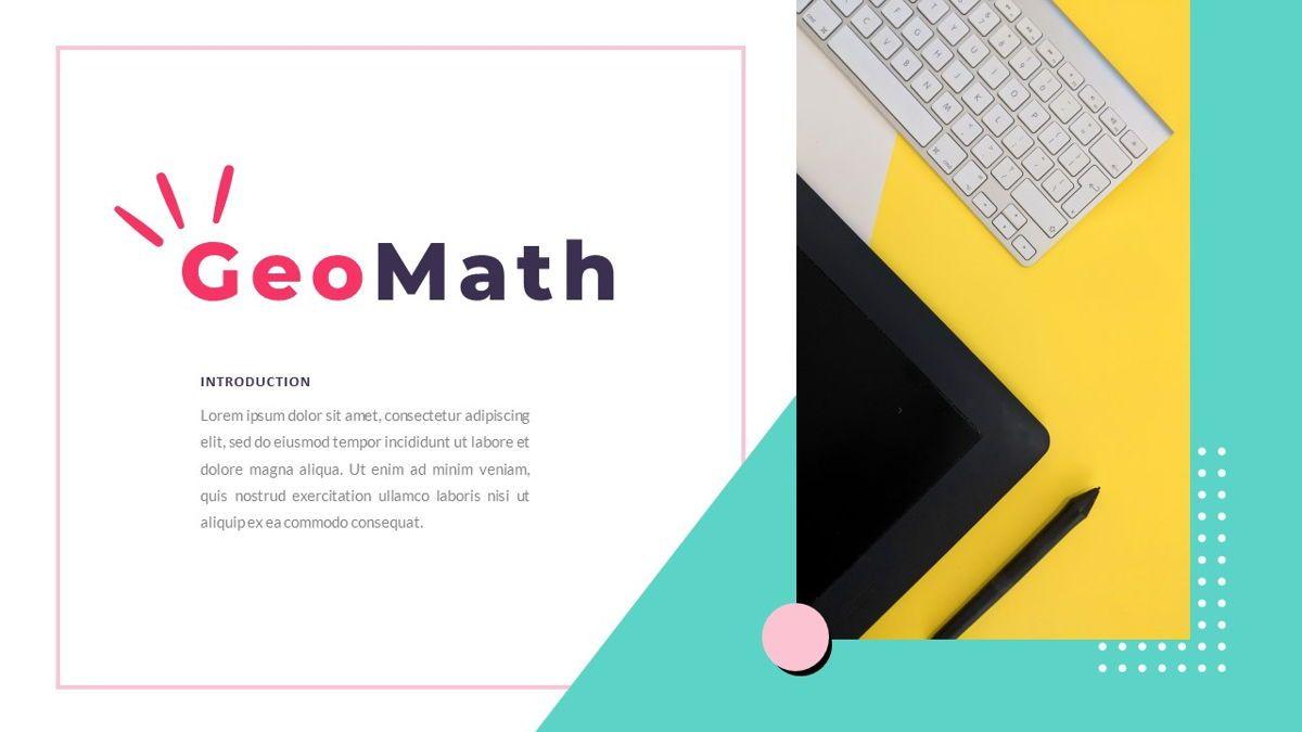 GeoMath – Creative Pop Art Business Keynote Template, Slide 2, 06831, Presentation Templates — PoweredTemplate.com