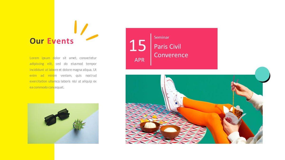 GeoMath – Creative Pop Art Business Keynote Template, Slide 22, 06831, Presentation Templates — PoweredTemplate.com