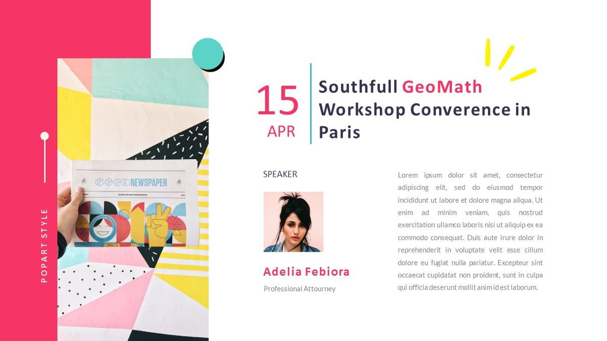 GeoMath – Creative Pop Art Business Keynote Template, Slide 23, 06831, Presentation Templates — PoweredTemplate.com