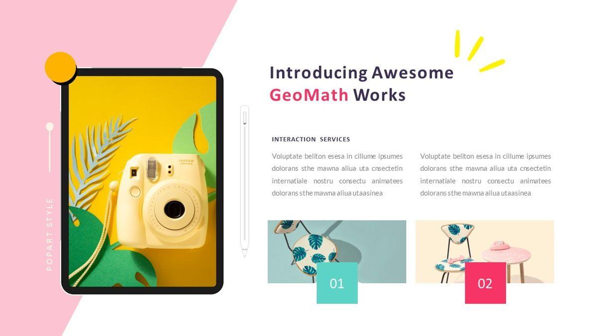 GeoMath – Creative Pop Art Business Keynote Template, Slide 25, 06831, Presentation Templates — PoweredTemplate.com