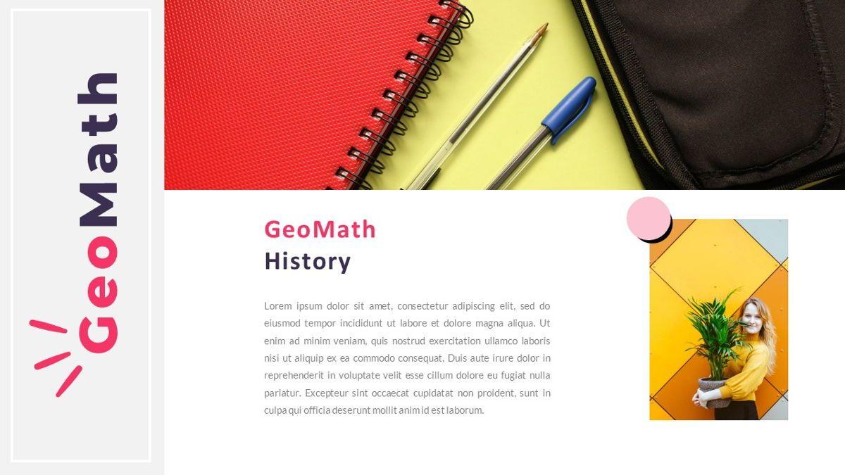 GeoMath – Creative Pop Art Business Keynote Template, Slide 3, 06831, Presentation Templates — PoweredTemplate.com