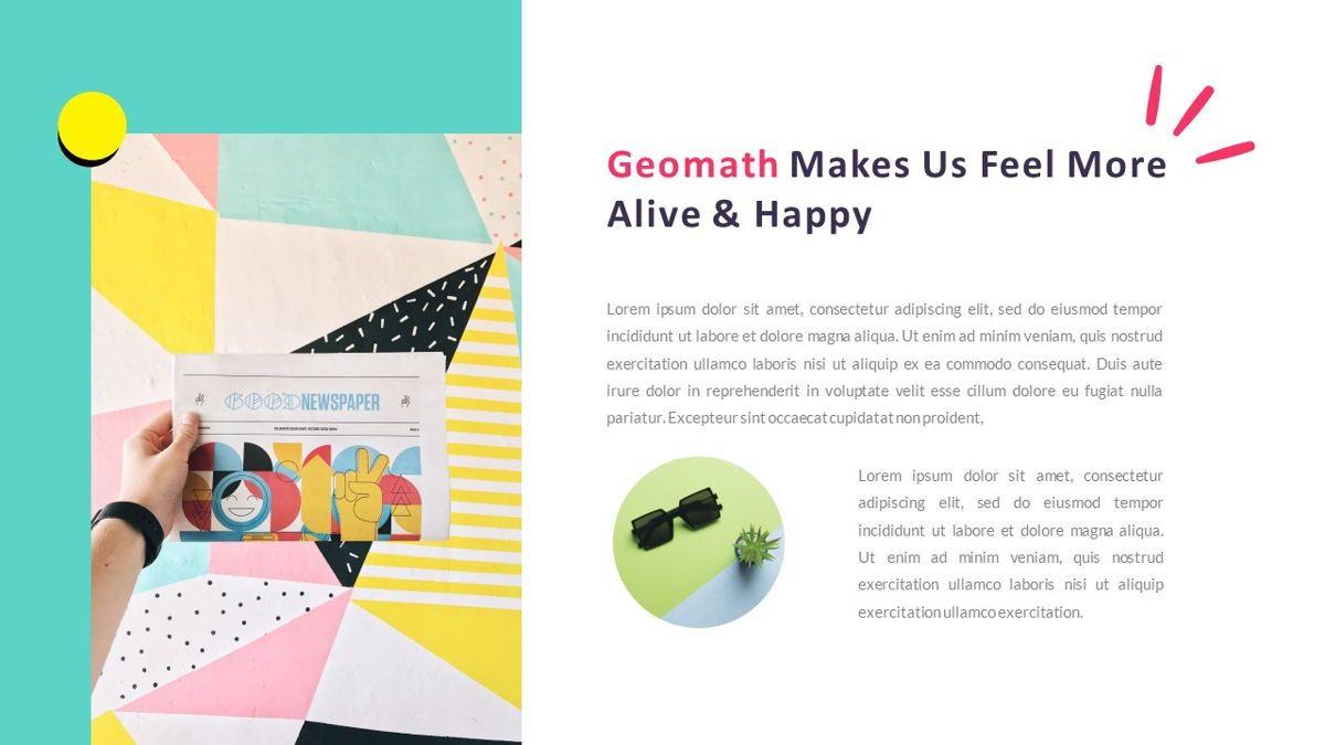 GeoMath – Creative Pop Art Business Keynote Template, Slide 5, 06831, Presentation Templates — PoweredTemplate.com