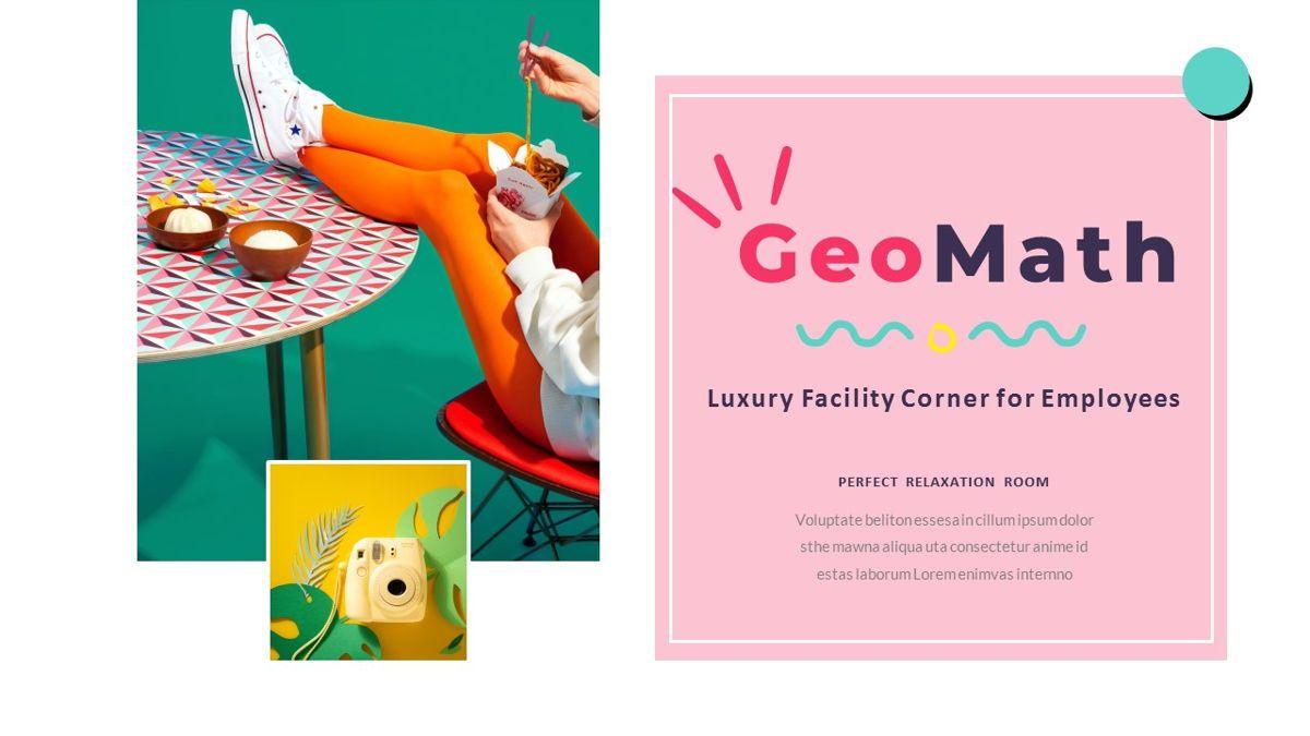 GeoMath – Creative Pop Art Business Keynote Template, Slide 7, 06831, Presentation Templates — PoweredTemplate.com