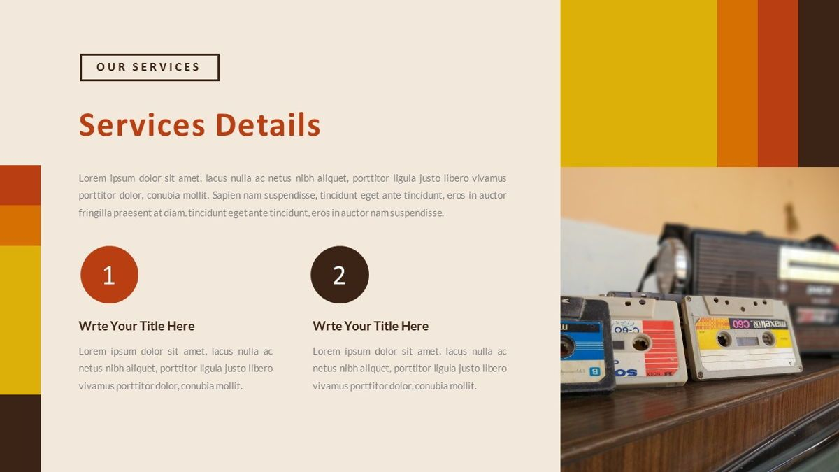 Jadoelest – Creative Vintage Business PowerPoint Template, Slide 14, 06832, Presentation Templates — PoweredTemplate.com