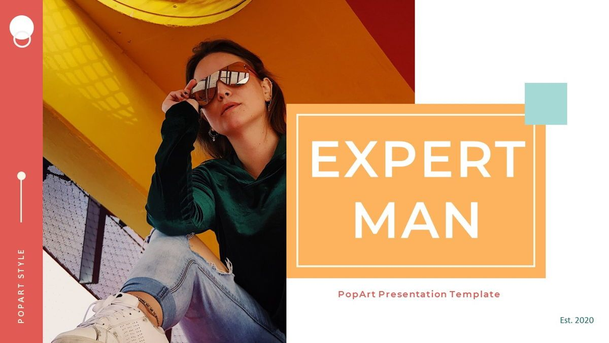 ExpertMan – Creative Pop Art Business Keynote Template, 06833, Presentation Templates — PoweredTemplate.com