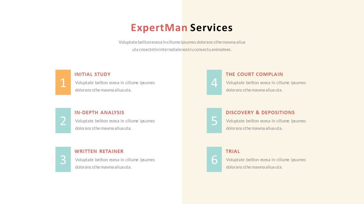 ExpertMan – Creative Pop Art Business Keynote Template, Slide 12, 06833, Presentation Templates — PoweredTemplate.com