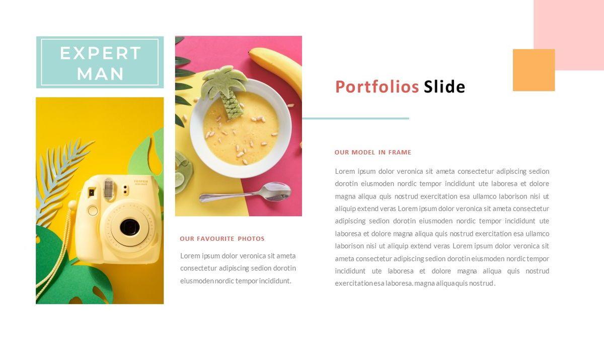 ExpertMan – Creative Pop Art Business Keynote Template, Slide 19, 06833, Presentation Templates — PoweredTemplate.com