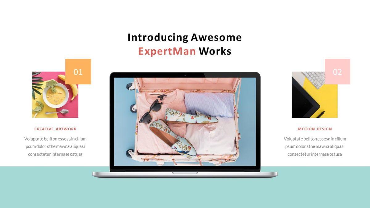 ExpertMan – Creative Pop Art Business Keynote Template, Slide 25, 06833, Presentation Templates — PoweredTemplate.com