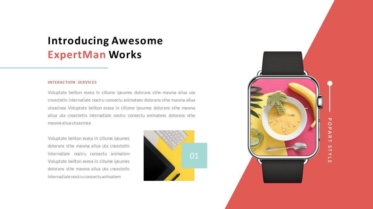 ExpertMan – Creative Pop Art Business Keynote Template, Slide 27, 06833, Presentation Templates — PoweredTemplate.com