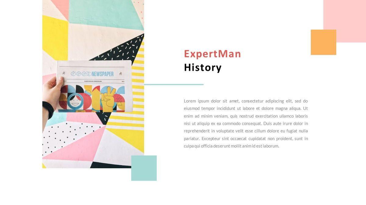 ExpertMan – Creative Pop Art Business Keynote Template, Slide 3, 06833, Presentation Templates — PoweredTemplate.com