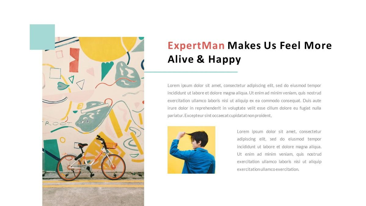 ExpertMan – Creative Pop Art Business Keynote Template, Slide 5, 06833, Presentation Templates — PoweredTemplate.com