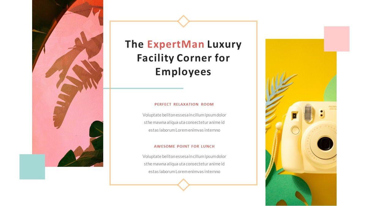 ExpertMan – Creative Pop Art Business Keynote Template, Slide 7, 06833, Presentation Templates — PoweredTemplate.com