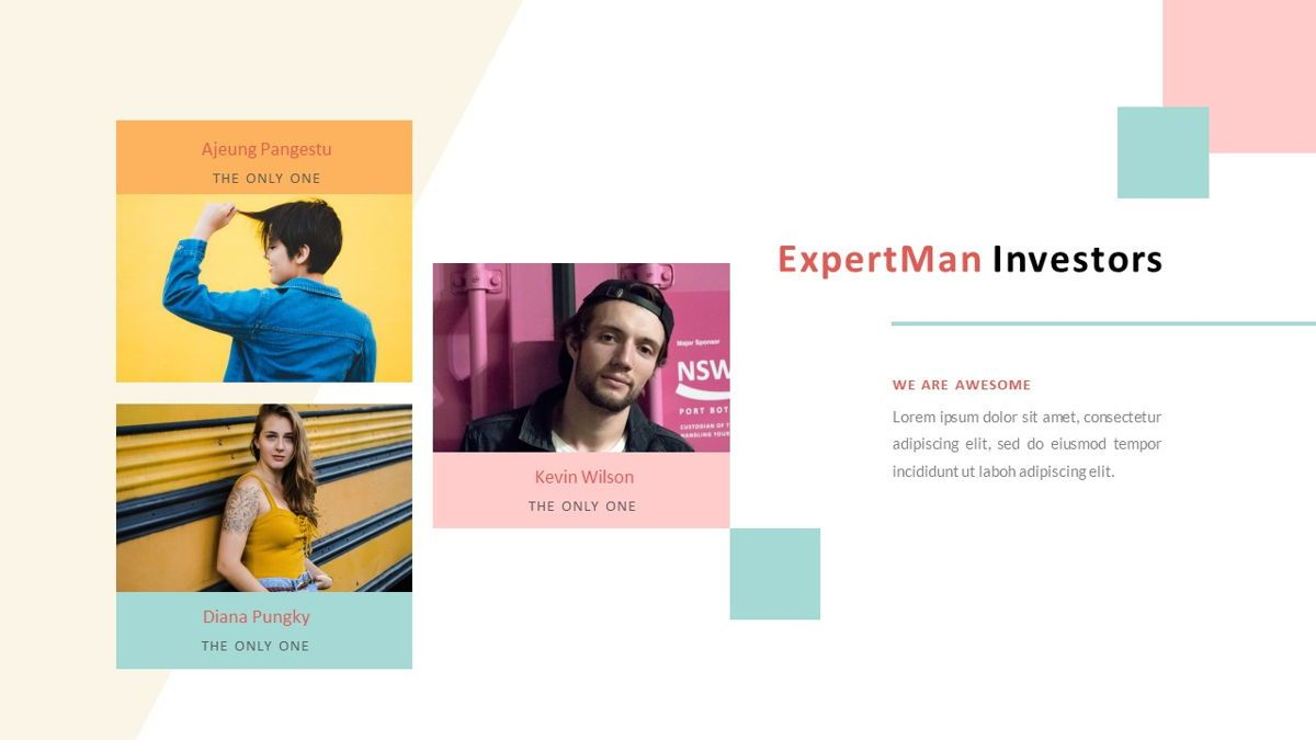 ExpertMan – Creative Pop Art Business Keynote Template, Slide 8, 06833, Presentation Templates — PoweredTemplate.com