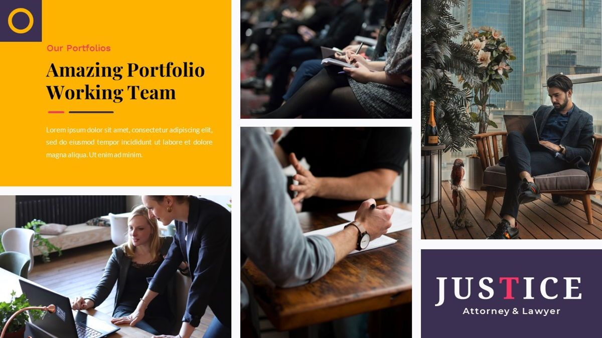 Justice – Creative Business Keynote Template, Slide 18, 06836, Presentation Templates — PoweredTemplate.com