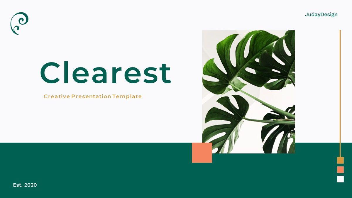 Clearest – Creative Business Keynote Template, 06837, Presentation Templates — PoweredTemplate.com