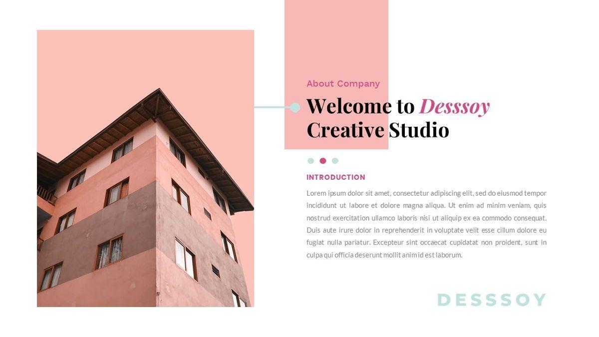 Desssoy – Creative Business Google Slides Template, Slide 2, 06838, Presentation Templates — PoweredTemplate.com