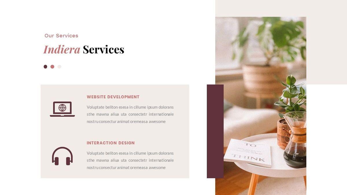 Indiera – Creative Business PowerPoint Template, Slide 15, 06850, Presentation Templates — PoweredTemplate.com