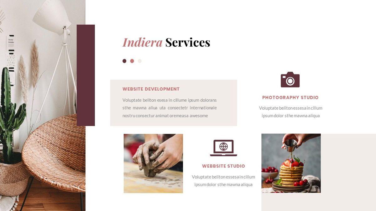 Indiera – Creative Business PowerPoint Template, Slide 16, 06850, Presentation Templates — PoweredTemplate.com