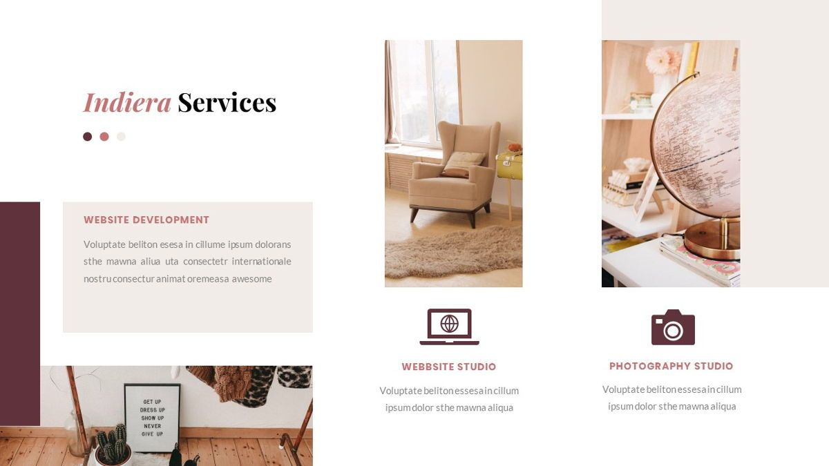 Indiera – Creative Business PowerPoint Template, Slide 17, 06850, Presentation Templates — PoweredTemplate.com