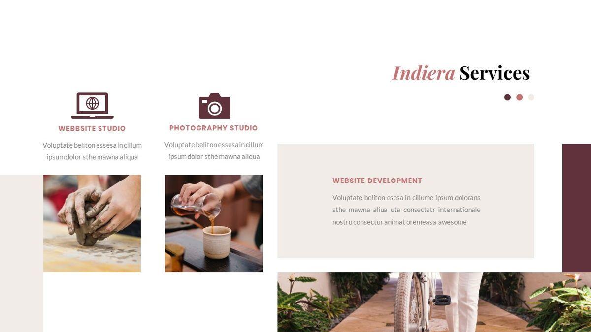 Indiera – Creative Business PowerPoint Template, Slide 19, 06850, Presentation Templates — PoweredTemplate.com