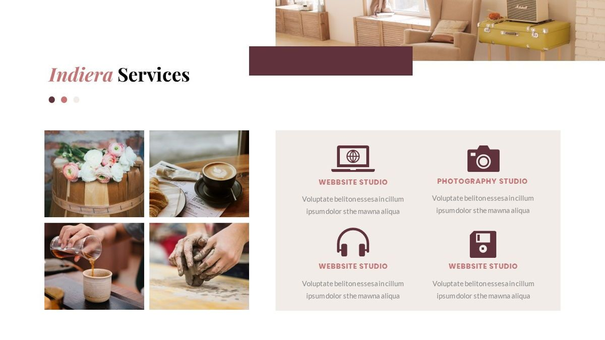 Indiera – Creative Business Google Slides Template, Slide 18, 06852, Presentation Templates — PoweredTemplate.com