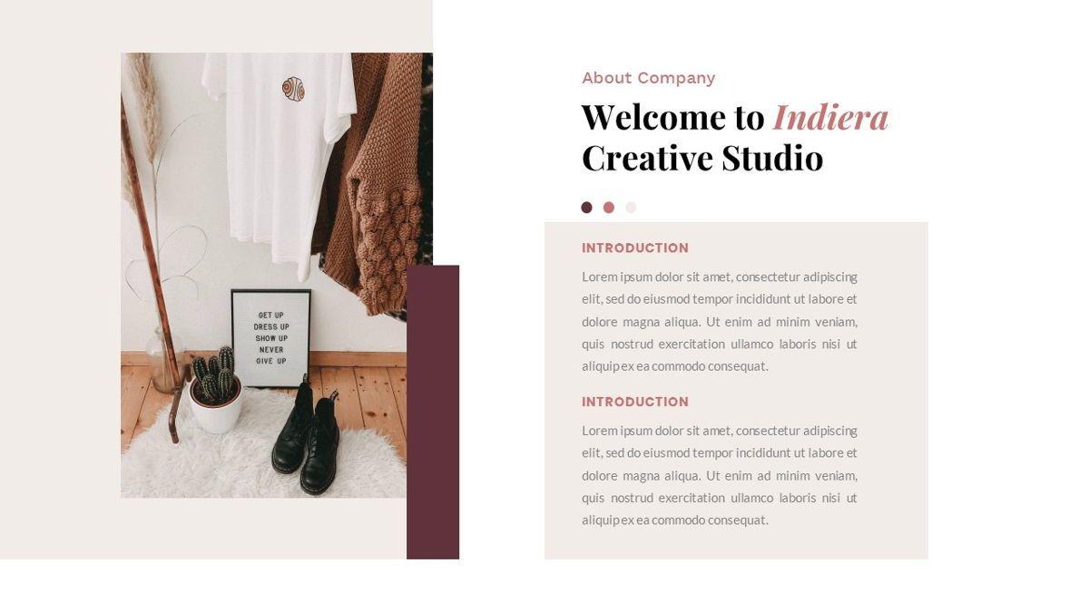 Indiera – Creative Business Google Slides Template, Slide 2, 06852, Presentation Templates — PoweredTemplate.com
