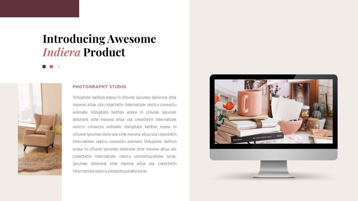Indiera – Creative Business Google Slides Template, Slide 30, 06852, Presentation Templates — PoweredTemplate.com