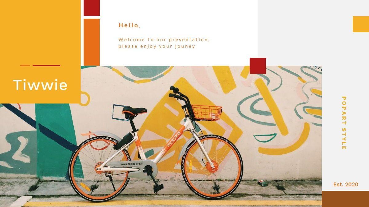 Tiwwie – Creative Business Pop Art PowerPoint Template, 06853, Presentation Templates — PoweredTemplate.com