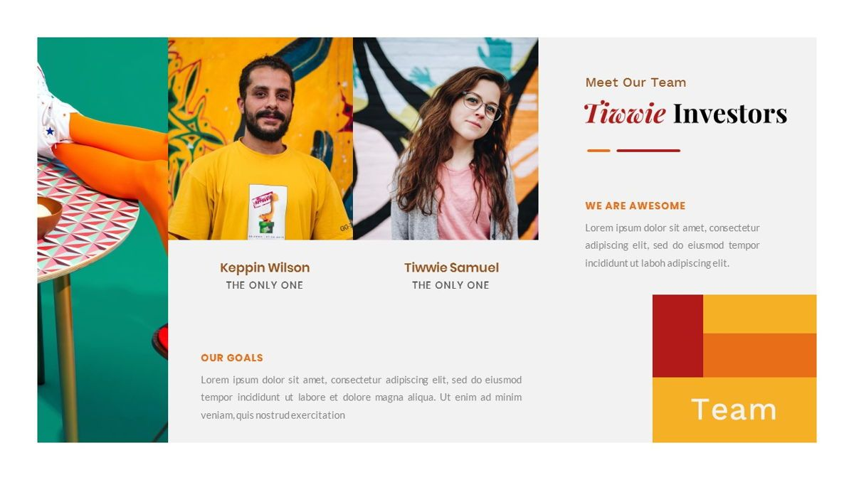 Tiwwie – Creative Business Pop Art PowerPoint Template, Slide 10, 06853, Presentation Templates — PoweredTemplate.com