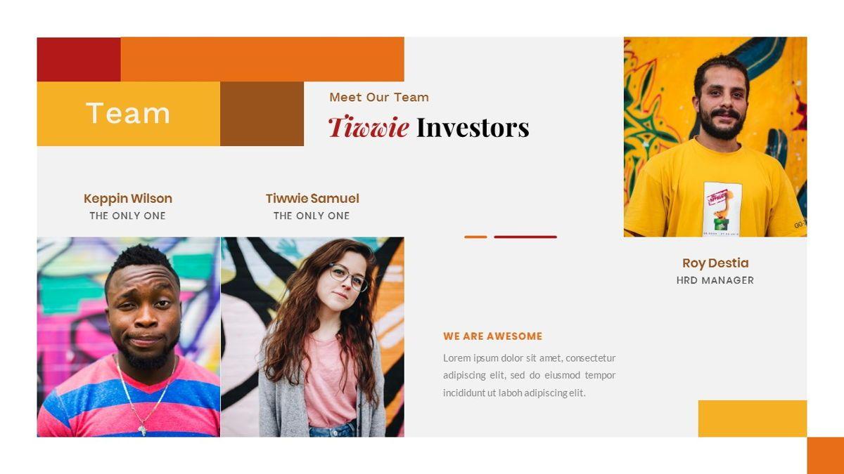 Tiwwie – Creative Business Pop Art PowerPoint Template, Slide 12, 06853, Presentation Templates — PoweredTemplate.com