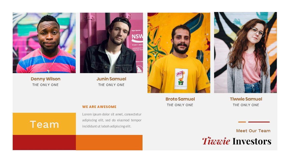 Tiwwie – Creative Business Pop Art PowerPoint Template, Slide 14, 06853, Presentation Templates — PoweredTemplate.com