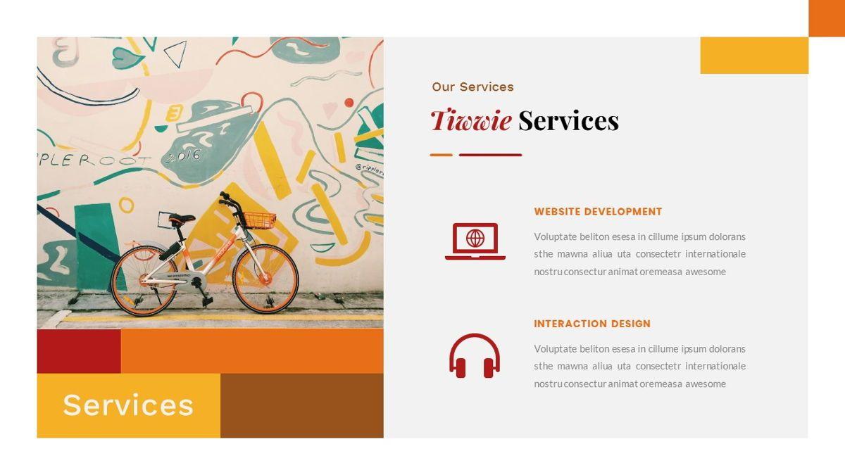 Tiwwie – Creative Business Pop Art PowerPoint Template, Slide 15, 06853, Presentation Templates — PoweredTemplate.com