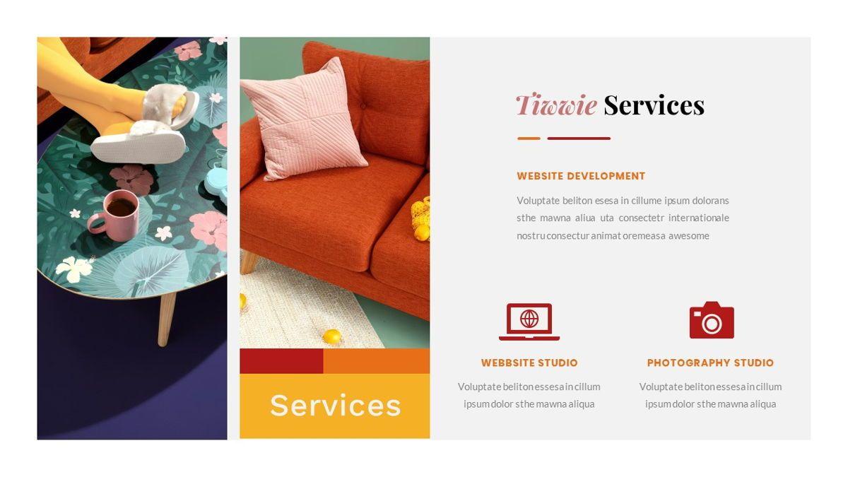 Tiwwie – Creative Business Pop Art PowerPoint Template, Slide 18, 06853, Presentation Templates — PoweredTemplate.com