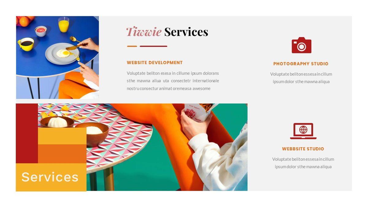 Tiwwie – Creative Business Pop Art PowerPoint Template, Slide 19, 06853, Presentation Templates — PoweredTemplate.com