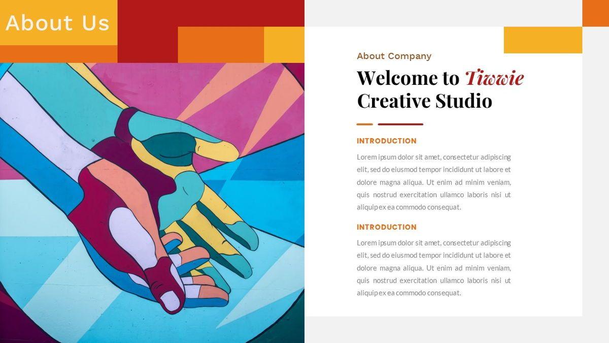 Tiwwie – Creative Business Pop Art PowerPoint Template, Slide 2, 06853, Presentation Templates — PoweredTemplate.com