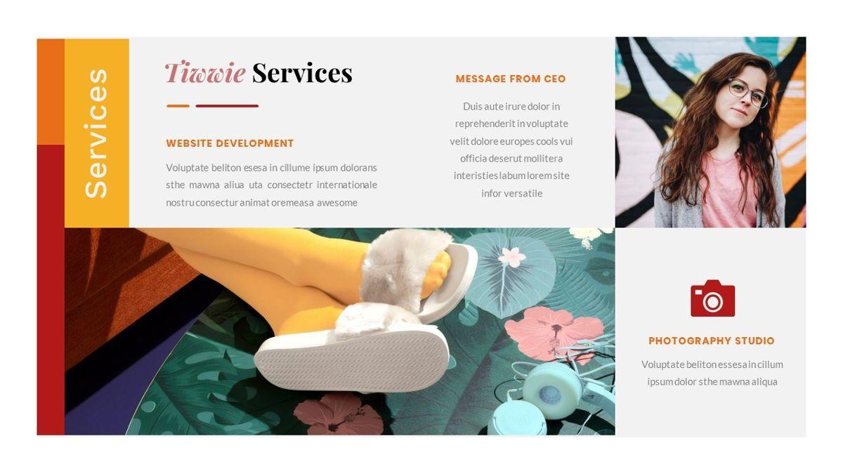 Tiwwie – Creative Business Pop Art PowerPoint Template, Slide 20, 06853, Presentation Templates — PoweredTemplate.com