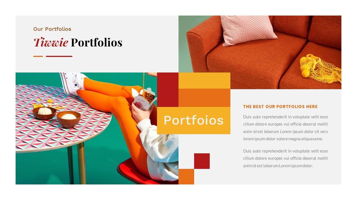 Tiwwie – Creative Business Pop Art PowerPoint Template, Slide 22, 06853, Presentation Templates — PoweredTemplate.com