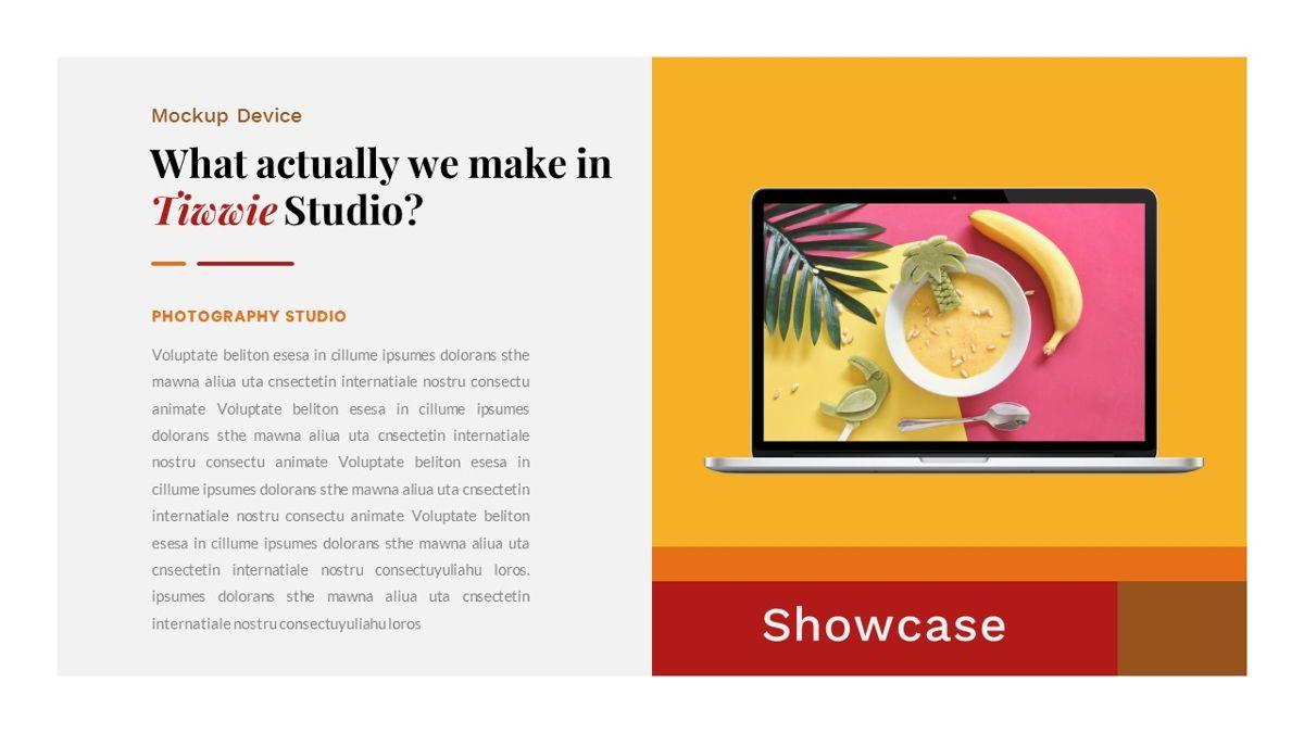 Tiwwie – Creative Business Pop Art PowerPoint Template, Slide 28, 06853, Presentation Templates — PoweredTemplate.com