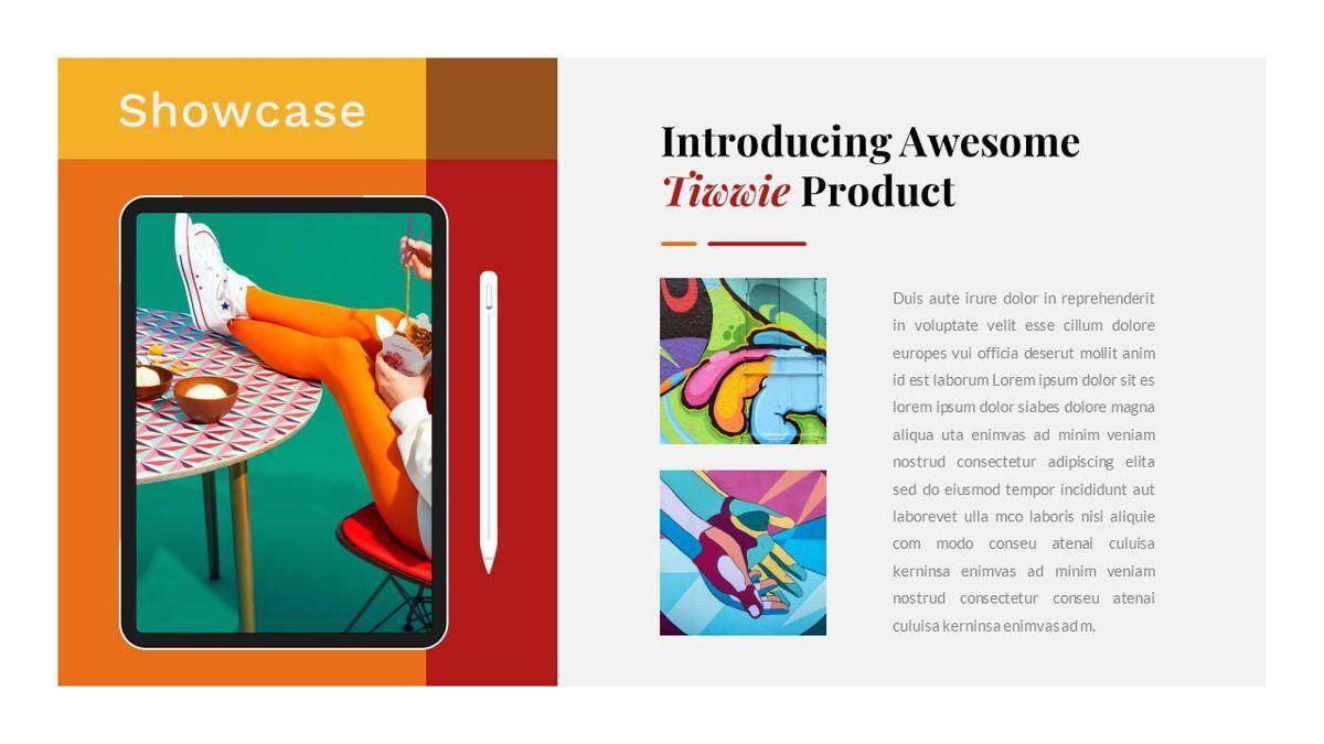 Tiwwie – Creative Business Pop Art PowerPoint Template, Slide 29, 06853, Presentation Templates — PoweredTemplate.com
